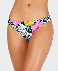 Hula Honey Juniors' Flowervescent Printed Hipster Bottoms, Created for Macy's