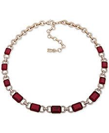 "Lauren Ralph Lauren Pavé & Stone Collar Necklace, 17"" + 3"" extender"