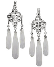 Lauren Ralph Lauren Silver-Tone Crystal Chandelier Earrings