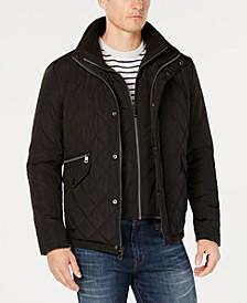 Men's Quilted Overcoat