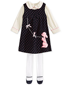 Blueberi Boulevard Baby Girls  Jumper & Top Set with Tights