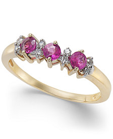 Ruby (3/8 ct. t.w.) & Diamond Accent Ring in 14k Gold