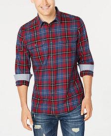American Rag Men's Mickey Plaid Twill Shirt, Created for Macy's