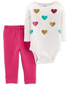 Carter's Baby Girls 2-Pc. Cotton Bodysuit & Leggings Set