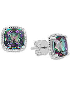 Mystic Topaz Rope-Framed Stud Earrings (8 ct. t.w.) in Sterling Silver