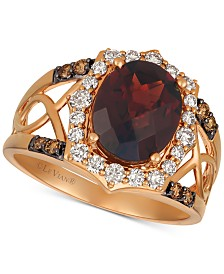 Le Vian® Rhodolite Garnet (3-1/5 ct. t.w.) & Diamond (1/2 ct. t.w.) Ring in 14k Rose Gold