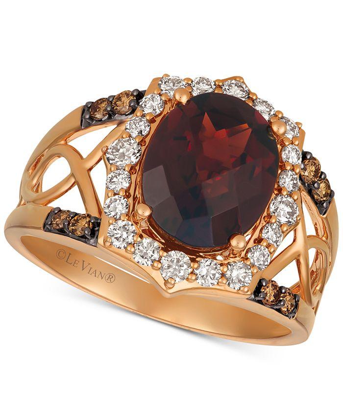 Le Vian - Rhodolite Garnet (3-1/5 ct. t.w.) & Diamond (1/2 ct. t.w.) Ring in 14k Rose Gold