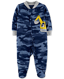 Carter's Baby Boys Camo-Print Footed Coverall