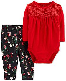 Carter's Baby Girls 2-Pc. Cotton Bodysuit & Leggings Set