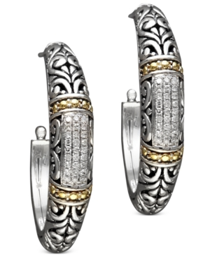 Balissima by Effy Diamond Hoop Earrings (1/4 ct. t.w.) in 18k Gold and Sterling Silver -  Effy Collection