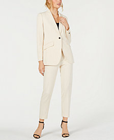 Anne Klein Pinstriped Blazer & Pants, Created for Macy's