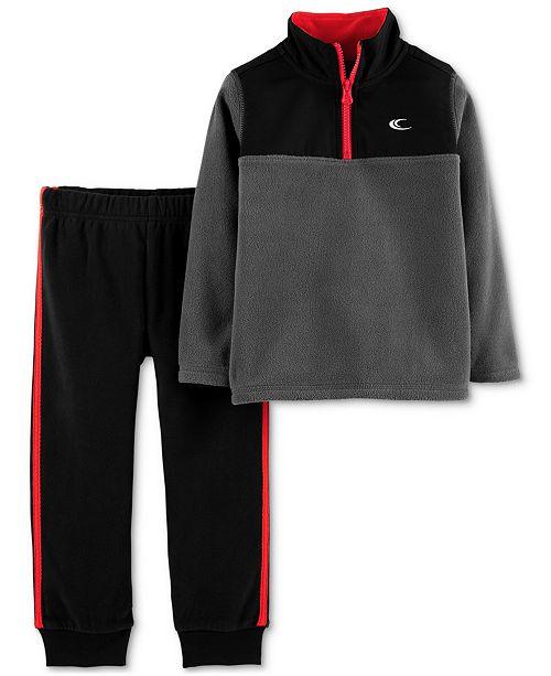 quality design b80a1 38649 Carter s Baby Boys 2-Pc. Fleece Pullover   Jogger Pants Set