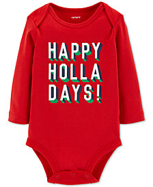 Carter's Baby Boys & Girls Holla-Days Cotton Bodysuit