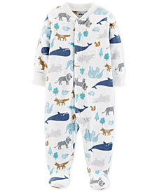 Carter's Baby Boys Animal-Print Footed Coverall