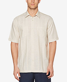 Cubavera Men's Linen Blend Pintucked Shirt