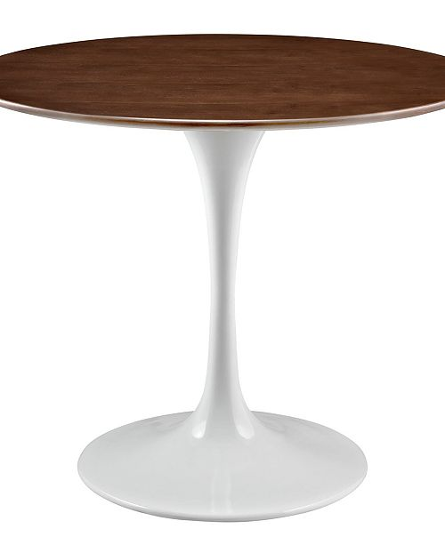Modway Lippa 36 Round Walnut Dining Table Reviews Furniture