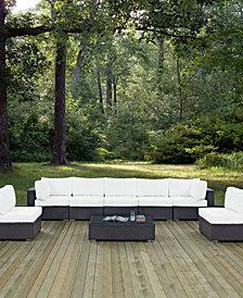 Convene 8 Piece Outdoor Patio Sectional Set