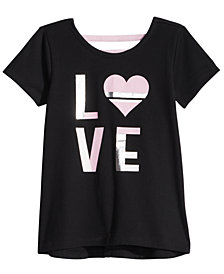 Ideology Toddler Girls Love-Print T-Shirt, Created for Macy's