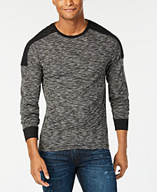 GUESS Men's Colorblocked Heathered Sweater