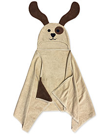Jay Franco Kids' Puppy Cotton Terry Hooded Towel