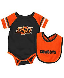 Colosseum Oklahoma State Cowboys Rollout Creeper and Bib Set, Infants (0-9 Months)
