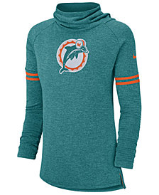 Nike Women's Miami Dolphins Funnel Neck Long Sleeve T-Shirt