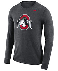 Nike Men's Ohio State Buckeyes Dri-FIT Cotton Logo Long Sleeve T-Shirt