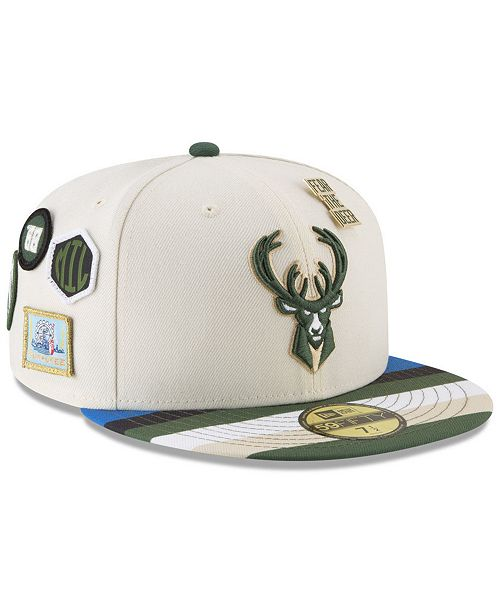 e3c6a5921cff20 ... New Era Milwaukee Bucks City On-Court 59FIFTY FITTED Cap ...