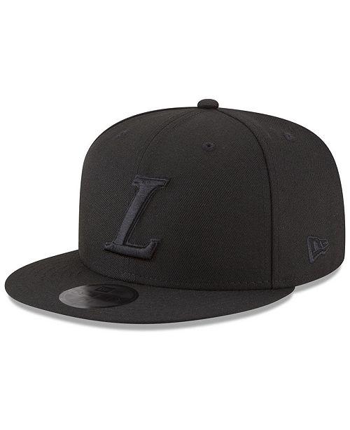 e996c6cb3e4 ... New Era Los Angeles Lakers Alpha Triple Black 59FIFTY FITTED Cap ...