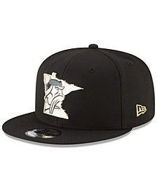 New Era Minnesota Vikings Gold Stated 9FIFTY Snapback Cap