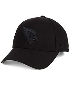 Arizona Cardinals Black & Black MVP Strapback Cap