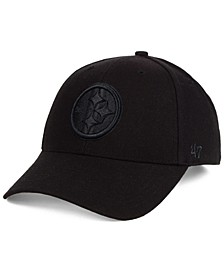 Pittsburgh Steelers Black & Black MVP Strapback Cap