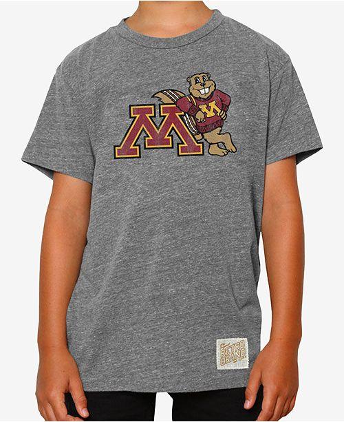 Retro Brand Minnesota Golden Gophers Tri-Blend T-Shirt, Big Boys (8-20)
