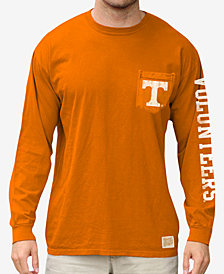 Retro Brand Men's Tennessee Volunteers Heavy Weight Long Sleeve Pocket T-Shirt