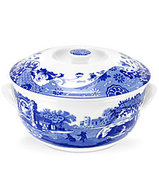 "Spode ""Blue Italian"" Round Covered Casserole"
