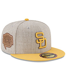 New Era San Diego Padres Leather Ultimate Patch Collection 59FIFTY FITTED Cap