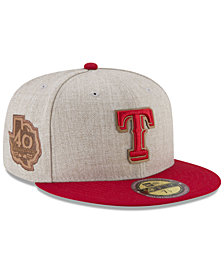 New Era Texas Rangers Leather Ultimate Patch Collection 59FIFTY FITTED Cap