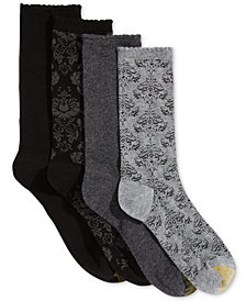 Gold Toe 4-Pk. Women's Damask Crew Socks