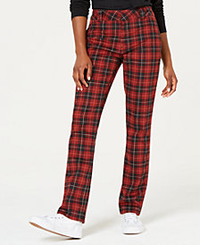 Dickie's Plaid Straight-Leg Pants