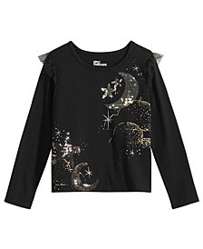 Epic Threads Little Girls Moon-Print Ruffled T-Shirt, Created for Macy's