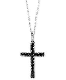 "EFFY® Diamond Cross 18"" Pendant Necklace (5/8 ct. t.w.) in 14k White Gold"
