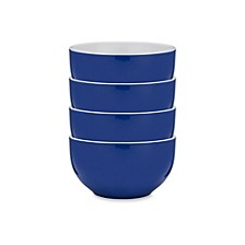 Bistro Blue Melamine 4-Pc. Cereal Bowl Set