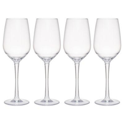 Hudson 14oz Tritan Acrylic 4-Pc. Goblet Set