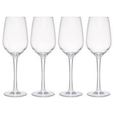 Q Squared Hudson 13 oz Tritan Acrylic 4-Pc. White Wine Glass Set