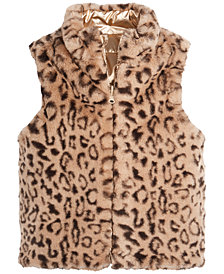 Epic Threads Little Girls Leopard-Print Faux Fur Vest, Created for Macy's