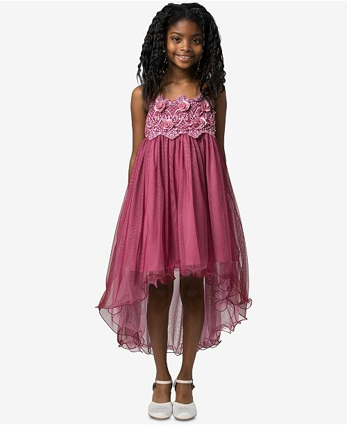 b9788661c288 ... Bonnie Jean Big Girls Embroidered Empire-Waist Party Dress ...