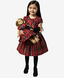 Bonnie Jean Little Girls 2-Pc. Plaid Dress & Doll Dress Set