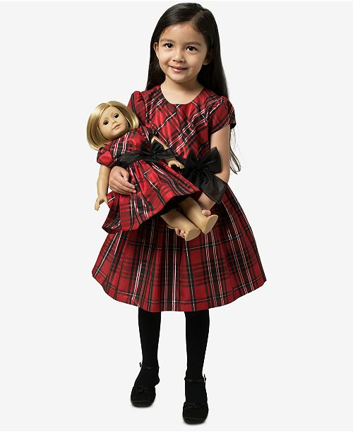 7aecfa43cc6a ... Bonnie Jean Toddler Girls 2-Pc. Plaid Dress & Doll Dress ...