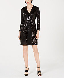 Calvin Klein Sequin A-Line Dress