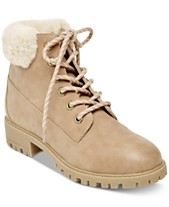 850109abb00a Madden Girl Frankie Faux-Fur Hiker Booties